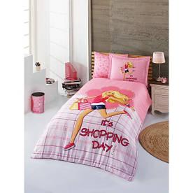 Постельное белье Halley Betty розовое полуторного размера