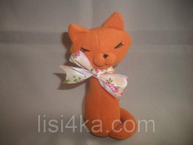 Интерьерный текстильный рыжий котенок