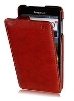 Кожаный чехол флип IMUCA для Lenovo P780 коричневый