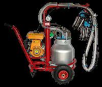Доильный аппарат Березка МОТО (бензиновая стаканы из нержавеющей стали)