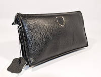 Мужской кожаный клатч, сумочка Philipp Plein 0189-1 черная