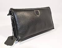 Мужской кожаный клатч, сумочка Philipp Plein 0189-1 черная, фото 1