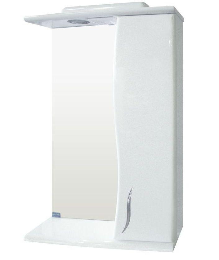 Зеркало Z-01 Стандарт-50 белое (505*167*703) правое с подсветкой, ТМ Николь
