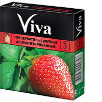 Презервативы Viva цветные ароматизированные 3 шт. SX7110012