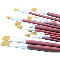 """Кисти синтетические для рисования SAT """"Best pen"""", мягкие, универсальные 6 шт."""