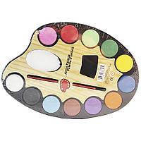 "Краски для рисования SAT ""Artist palette"", 12 цветов."