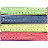 Линейка для черчения 15 см. (голубой, розовый, зеленый, желтый), 48шт. в упакавке. SQ102651