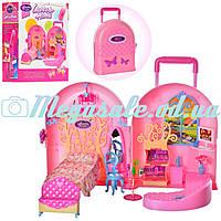 Мебель для кукол барби Спальня 2988 в чемодане для транспортировки