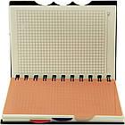 Блокнот на пружине с разделителями, клетка, 6 деления, 110 листов, пластиковая политурка, РР-В5С NB1026130, фото 2
