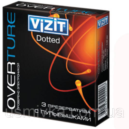 Презервативы Vizit overture Dotted 3 шт. SX7110017