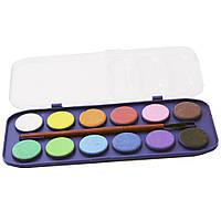 Краски для рисования на бумаге SAT, 12 цветов. SQ102636