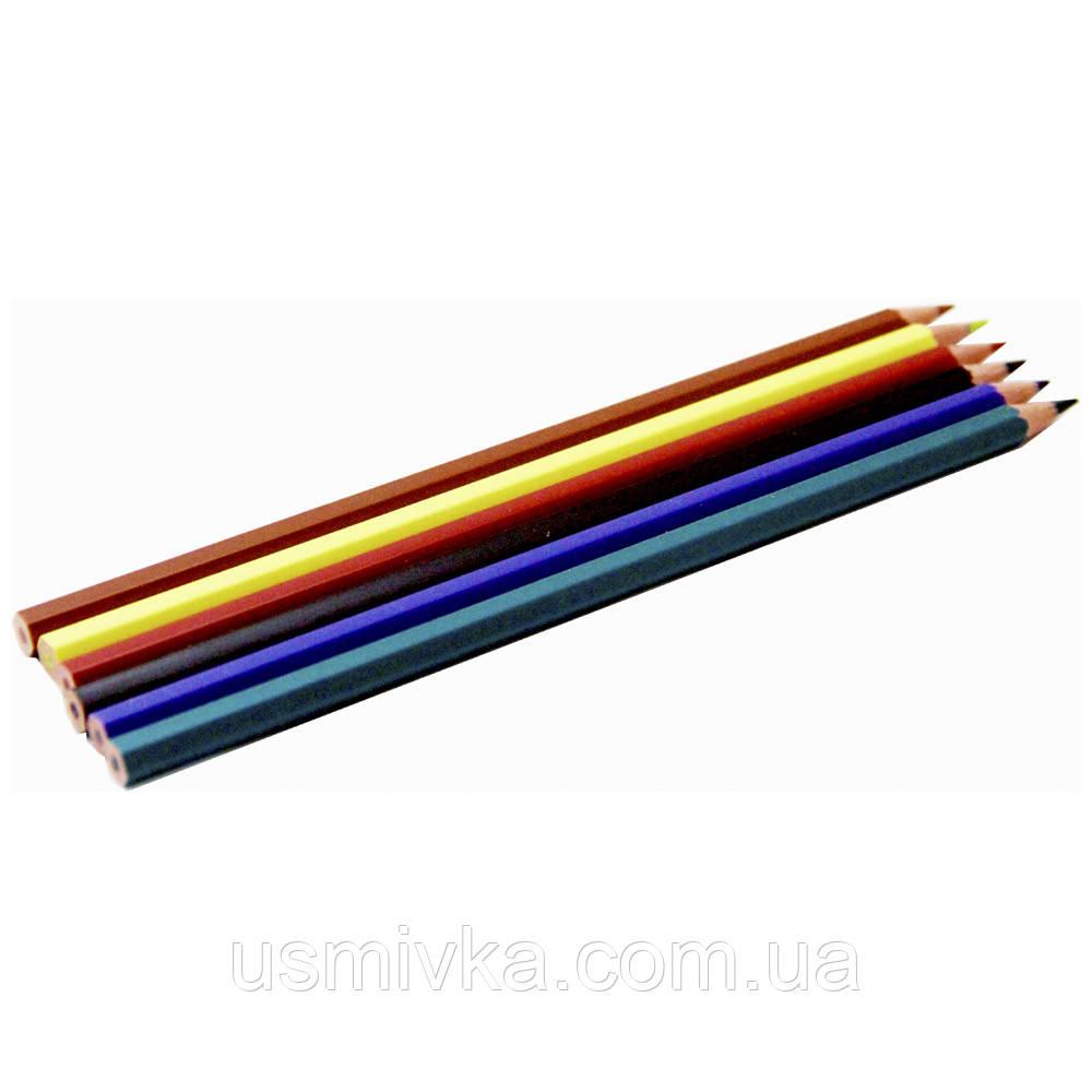 Карандаши цветные набор BRW Lapis de cor,гнущиеся, 6 шт. FK10267