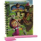 Блокнот оптом, на спирали, формат А6, детский с ручкой, пластиковаая политурка, 60 листов, клетка, №810 NB102672, фото 2