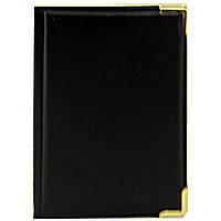 Визитница карманная, черная, из кожезаменителя, вместимостью 32 карты
