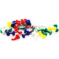 Гвозди канцелярские цветные (30 шт.), упаковка 10 шт.