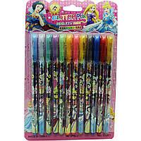 Ручки гелевые с блестками ''Disney'' на блистере 12 цветов