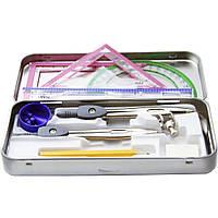 """Набор инструментов для черчения в металическом пенале SAT """"Student max"""""""