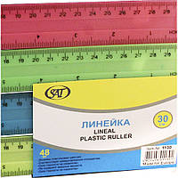 Линейка для черчения 30 см. (голубой, розовый, зеленый, желтый), 48шт. в упакавке. SQ102653