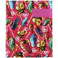"""Дневник для младших школьников, обложка из текстиля, мягкая, принт из мультфилма """"Тачки """". MB102662"""