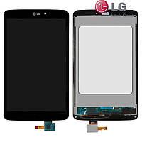 Дисплейный модуль (дисплей + сенсор) для LG G Pad 8.3 V500, черный, оригинал