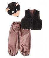 """Карнавальный костюм """"Мишка №2 Маша"""" темно-коричневый, рост 95-120"""