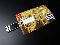 USB накопитель, флешка на 32 GB в виде кредитной карты Bradesco
