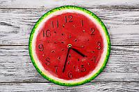 Настенные часы ручной работы «Арбуз»