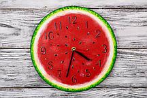 Настенные часы ручной работы Арбуз