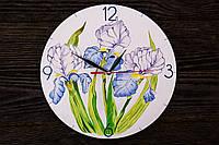 Настенные часы ручной работы Ирисы