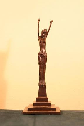 Восточная танцовщица  бронза, 1920-е г.г. Ар - Деко, фото 2