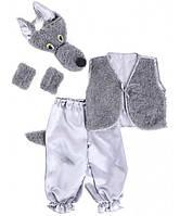 """Карнавальный костюм """"Волк №1"""" серый, рост 95-120"""