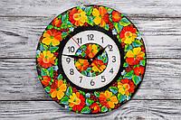 Настенные часы ручной работы Цветочная поляна