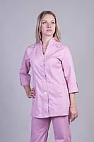 Женский медицинский костюм нежно-розового цвета