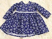 Хлопковое платье со снежинками