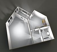 Однокомнатные квартиры 42,08 кв.м. 2 этаж__30000
