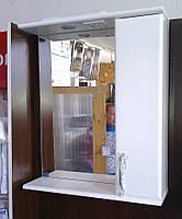 Зеркало З-04-55 Стандарт белое (550*165*705) правое с подсветкой, ТМ Николь