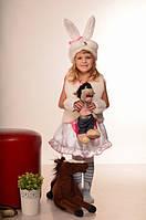 Карнавальный детский костюм Зайка девочка