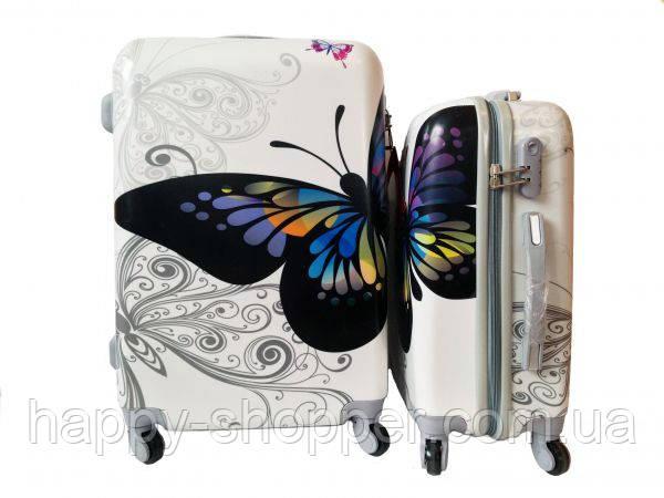 Чемодан - Комплект из 3-х - Бабочка цветная
