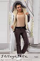 Женский лыжный костюм Love шоколад
