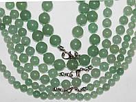 Ожерелье Авантюрин Кварц 44 см Ш 6, 8, 10 мм Нефрит