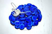 Камни для декора круглые молочно-голубые d 2 см