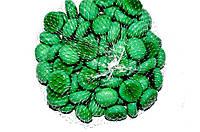 Камни для декора круглые молочно-салатовые d 2 см