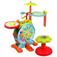 Детская барабанная установка 666 звук,свет,песни