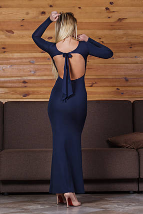 ДС429 Платье вечернее темно-синее, фото 2