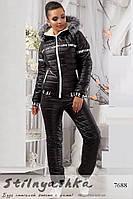 Женский лыжный костюм Love черный, фото 1