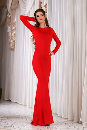 ДС429 Платье вечернее красное, фото 2