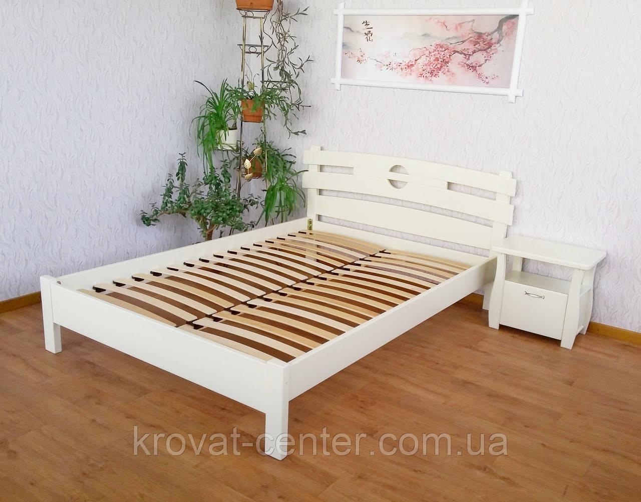 """Белая полуторная кровать из натурального дерева """"Токио"""" от производителя"""