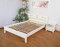 """Белая полуторная кровать из натурального дерева """"Токио"""""""