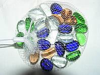 Камни для декора дольки цветные 2,7х1 см