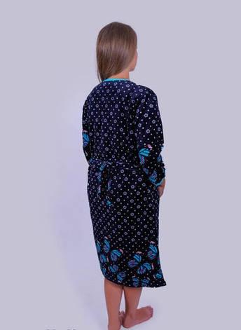 Велюровый халат больших размеров Луг, фото 2